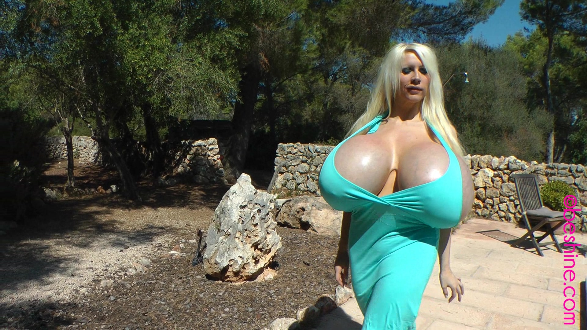 Beshine - Sexy tits in summer dress 52391 - Bigtittytube - Just super huge monsterboobs