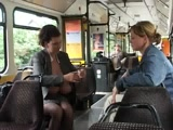 Milena Velba Milking On Tram Part2