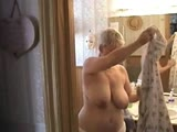 Amateur granny jerks off her husband