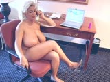 Claudia Marie (White American, Blond) (Busty Blond Masturbate in her hotel room)