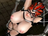 Busty 3d hentai slave gets fucked