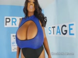 Big tits ebony babe Maserati XXX pole dance
