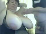 Titty lover and his busty dream MILF on webcam