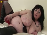 British big titted mature showing off her great boobs