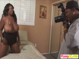 Naughty BBW ebony fucked hard by huge black cock