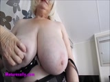 Mature Sally in corset