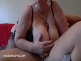 Dick between grannys boobs