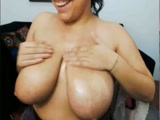 Gorgeous Colombian tittyfuck with dildo