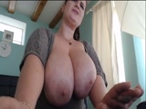 Brunette MILF with massive hangers