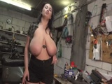 Guys dream big tits in the garage